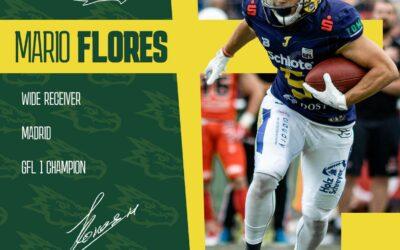 Mario Flores llega a nuestro equipo como nuevo WR